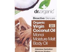Piele straƒlucitoare și paƒr hidratat cu gama  Virgin Coconut Oil de la Dr. Organic