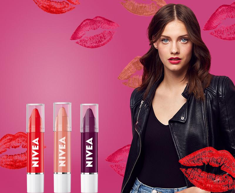 In luna iubirii, get your #LipsMadeForDating cu noile creioane de buze NIVEA