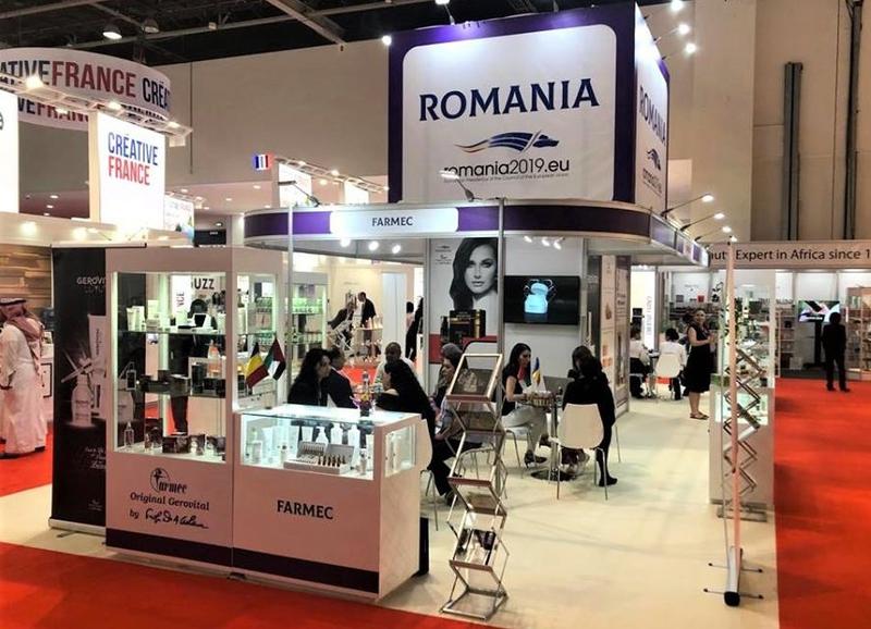 Farmec- prezenta constanta la targurile internationale de produse cosmetice