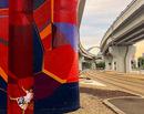 La pas prin Bucuresti: Pasajul Mihai Bravu si stalpii sai colorati