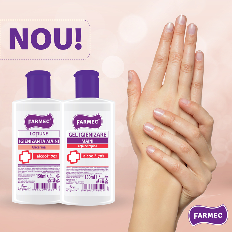 Farmec începe producția a două noi produse igienizante pentru mâini